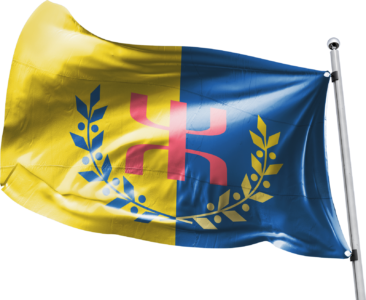 Le Drapeau National Kabyle et son mat (alpha)