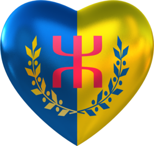 Le Drapeau National Kabyle Coeur (alpha)