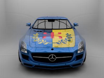 Le Drapeau National Kabyle  voiture