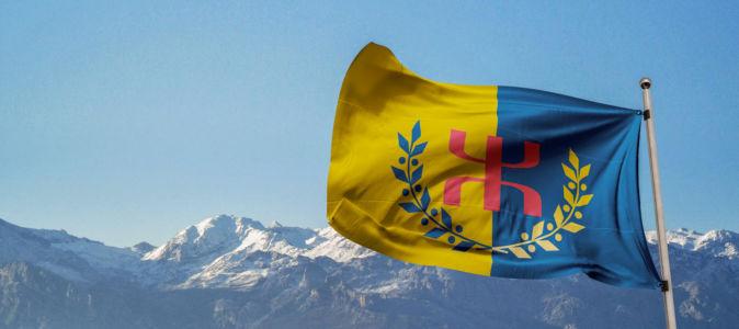 Le Drapeau National Kabyle et le Djurdjura