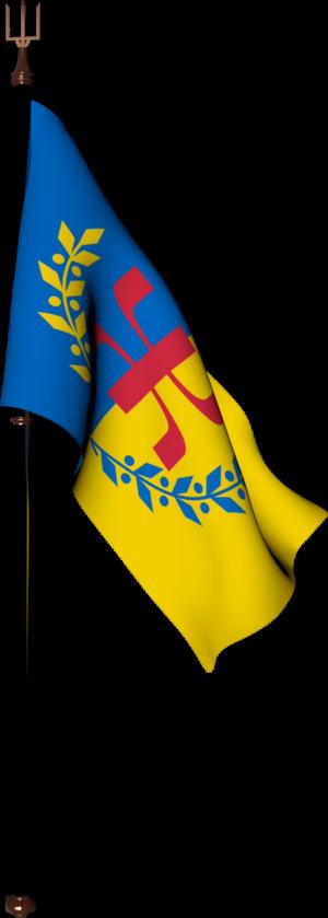Le Drapeau National Kabyle et son mat