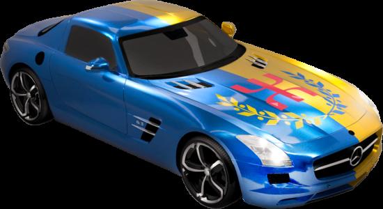Le Drapeau National Kabyle voiture (alpha)